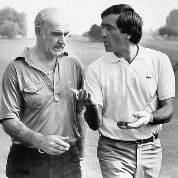 Photo of Seve Ballesteros & Sir Sean Connery