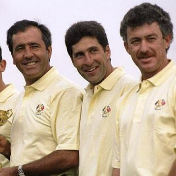 Photo of Seve Ballesteros, José María Olazábal and Miguel Ángel Jiménez
