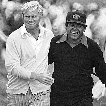 Jack & Trevino at Merion for the 1971 US Open Playoff. Trevino shot a 68 this day to win by 3 over Jack.